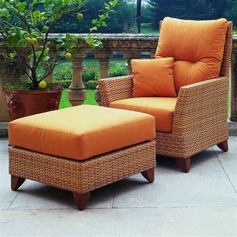 outdoor furniture ottoman rausch outdoor wicker lounge chair homeinfatuation