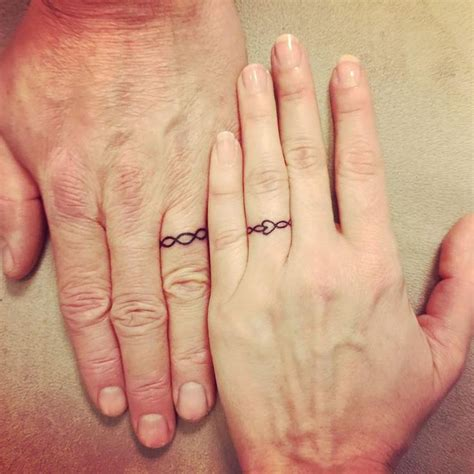 couple wedding ring tattoos 25 best ideas about couples ring tattoos on