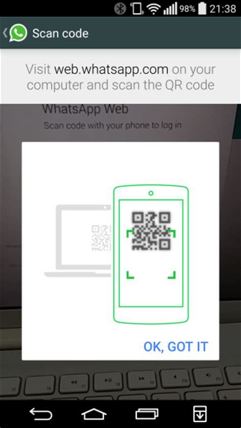 web whatsapp qr code android on whatsapp web goes live for android users blackberry and windows phone but not ios
