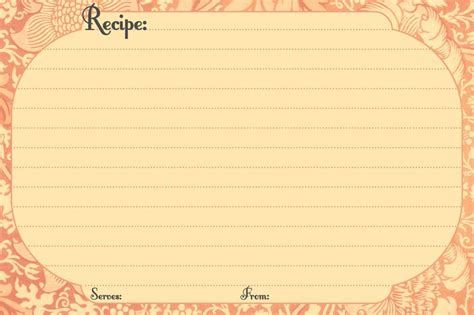 electronic recipe card template free digital recipe card templates printable recipe