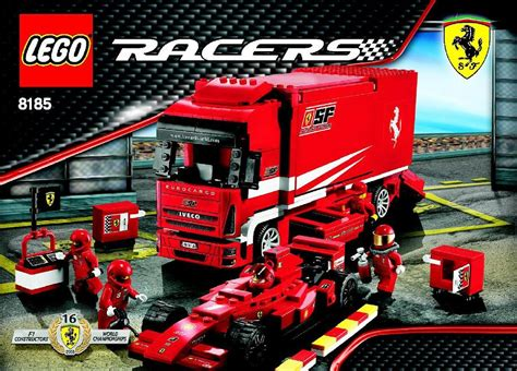 ferrari truck ferrari truck instructions 8185 racers