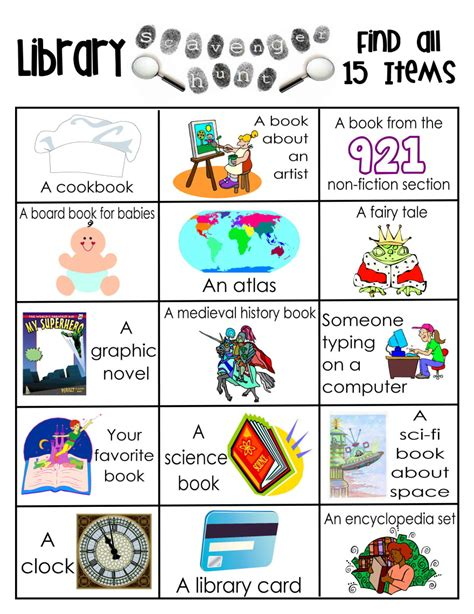 Library Skills Worksheets by Library Scavenger Hunts On Library Lessons