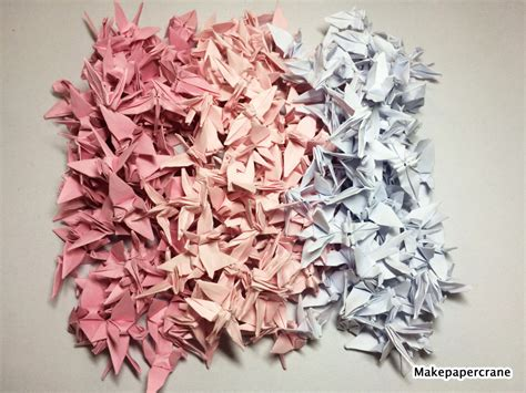 1000 Origami Paper - 1000 origami paper cranes pink 1 5 handmade by makepapercraft