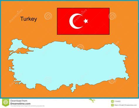 turkey vector map turkey stock photography image 1754622