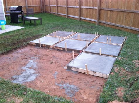 Backyard Concrete Slab Ideas A Roll Acosta Diy Backyard Patio Part 2
