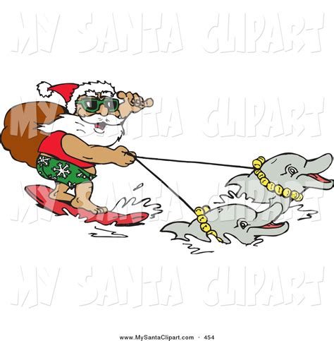 surfing santa coloring page free santa surfing coloring pages