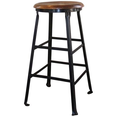 rustic industrial bar stools vintage industrial rustic wood and metal machine shop