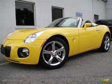 pontiac solstice yellow 2008 yellow pontiac solstice gxp roadster 16019306