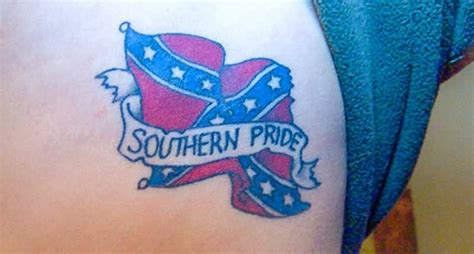 45 rebel flag tattoos