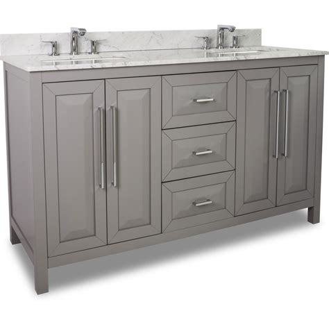 60 inch bathroom vanity double sink 60 inch grey finish double sink bathroom vanity carrera