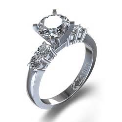 daimond ring five engagement ring in 14k white gold