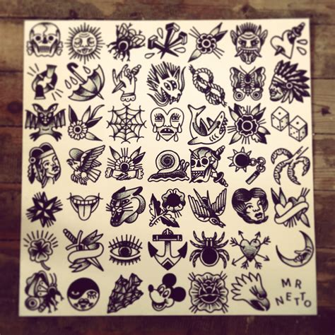 small traditional tattoos 70 x 70 cm flash by mr levi netto all designs are