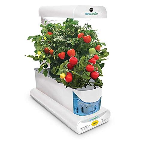 White Seed Shop Discovery Kit aerogarden sprout with gourmet herb seed pod kit white