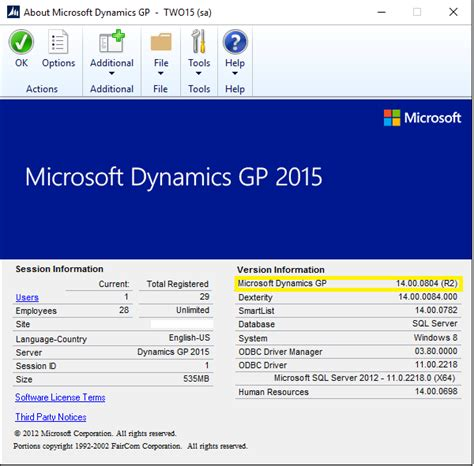 Microsoft Dynamics Gp microsoft dynamics gp version infinity computer systems