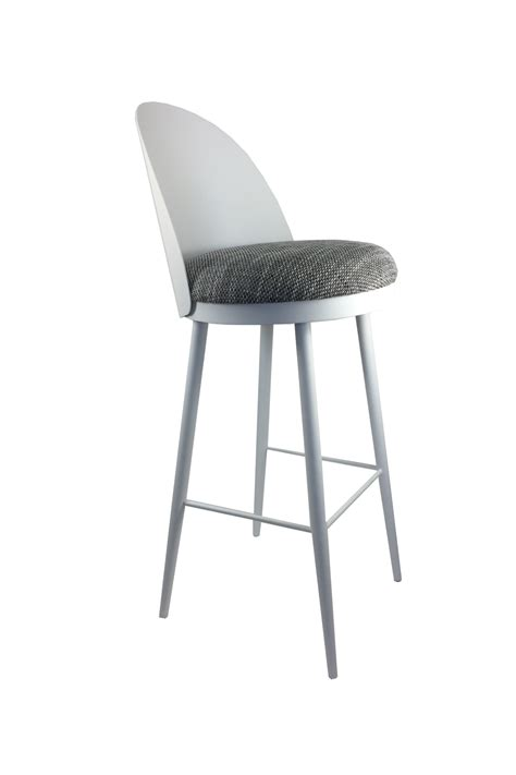 Metal Bar Stool With Backrest by Lili Bar Stool With Backrest In Metal