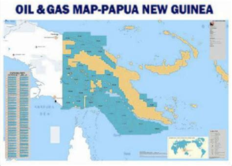 papua new guinea oil & gas map buy map oil gas