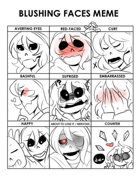 Tumblr Meme Faces - blushing face meme tumblr