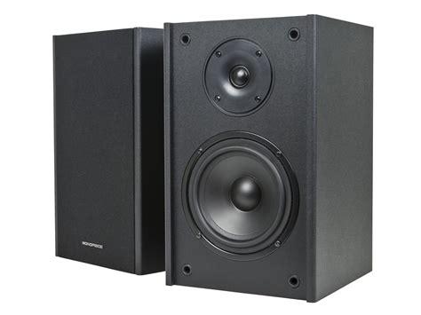 monoprice 10532 premium 5 25 inch 2 way bookshelf speakers