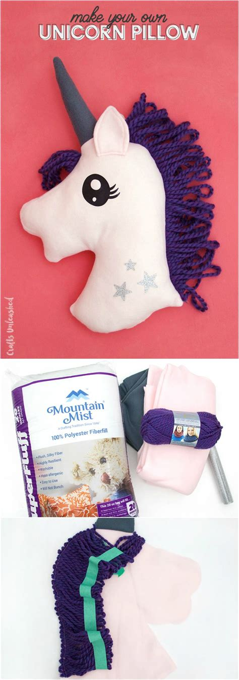 unicorn craft pattern unicorn diy pillow step by step consumer crafts