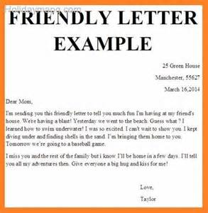 Friendly Letter Template by Friendly Letter Template Map Travel