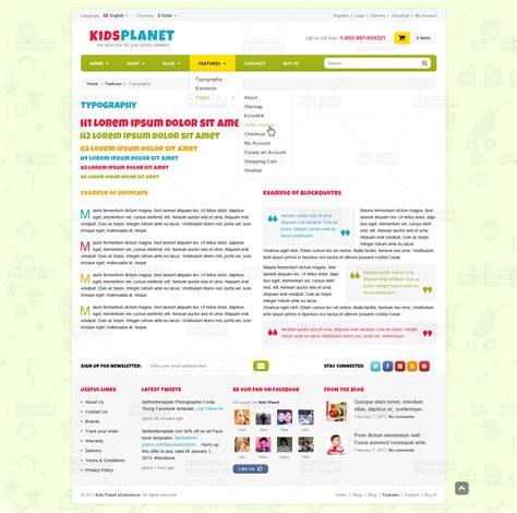 kids planet ecommerce blog psd template by monkeysan