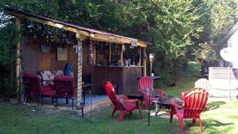 backyard tiki hut home