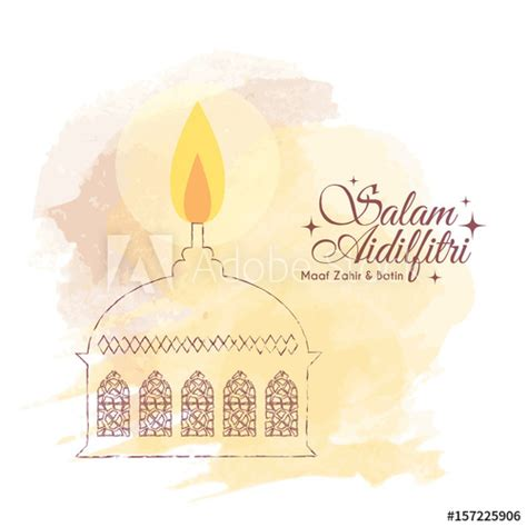 hari raya card template hari raya aidilfitri greeting card template design