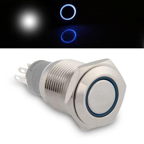 diode pære 12v bil qook 16mm 12v 3a p 229 av knapp bryter for bil b 229 t m bl 229 led gratis frakt dealextreme