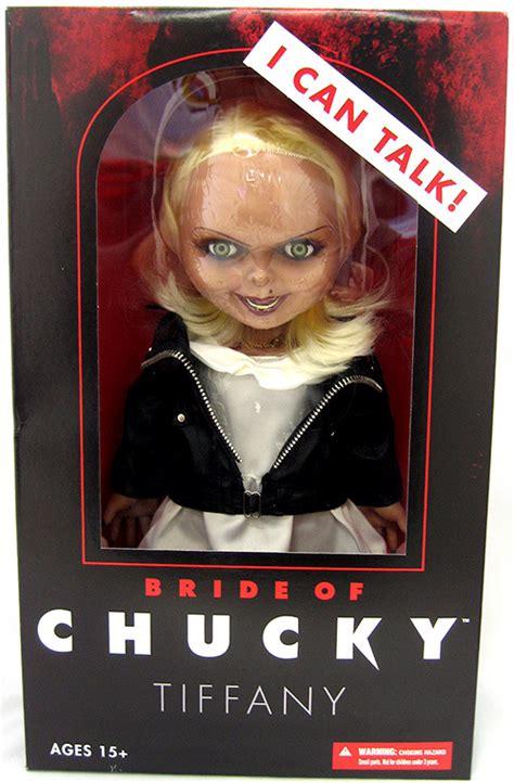 chucky film series talking tiffany bride of chucky doll figure deluxe