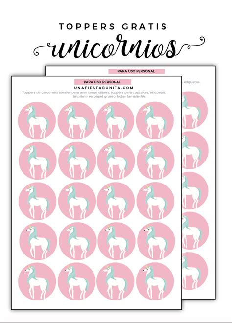 descargar imagenes de unicornios gratis unicornios descarga gratis estos lindos toppers ideales