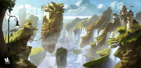 cal 2017 fantasy art of fantasy environment by atomhawk on