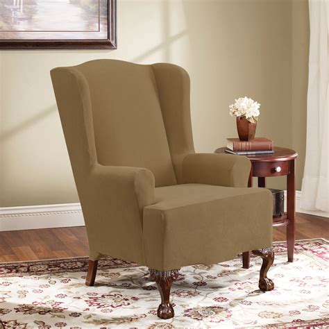 Wing Chair Slipcover by Slipcovers For Wingback Chairs At Home And Office