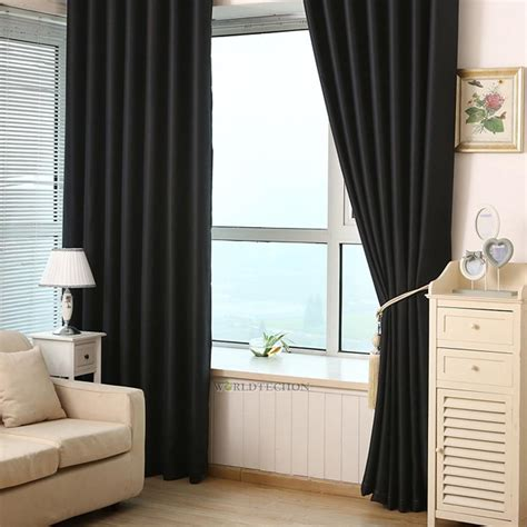 living room curtain panels 2pcs blackout heavy thick grommet window curtain panel