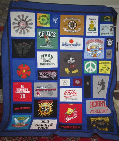 Memory Quilts Made From T Shirts by Custom Size T Shirt Memory Quilt By Stitches By