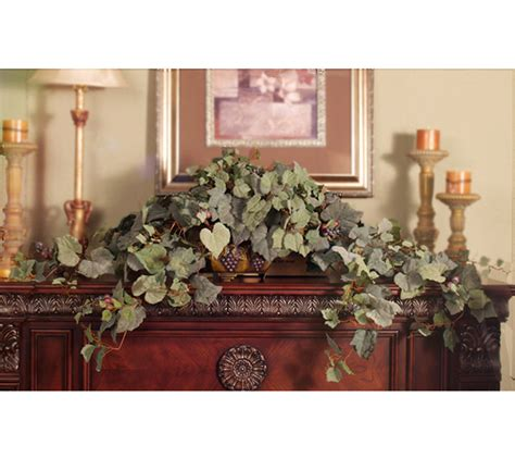 grapes home decor grape ivy silk ledge plant gr141 45 floral home decor