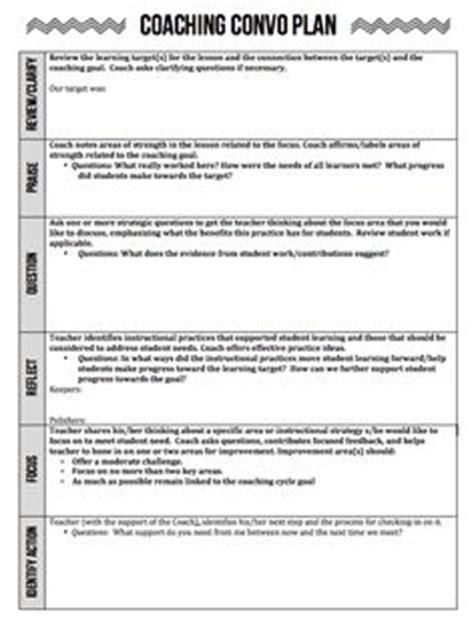 coaching plan template for teachers coaching on coaching principal