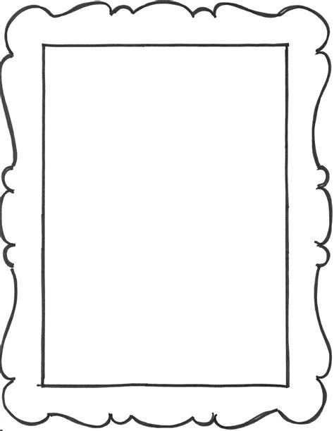printable picture frames templates add a few frame outlines to the notebook favors