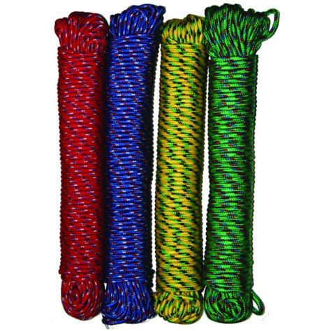6mm Braided Rope - built braided colour 6mm x 40m rope