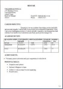 Resume Format Of Biodata Simple Biodata Format