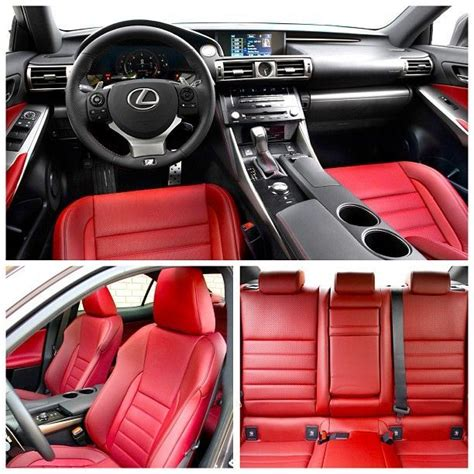 Lexus Is250 F Sport White Red Interior Google Search