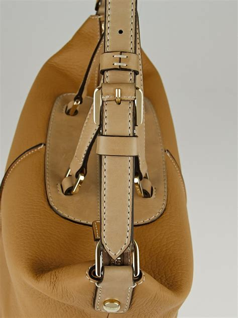 Tods Miky Media Bag by Tod S Beige Calfskin Leather Classic Miky Bauletto Medio