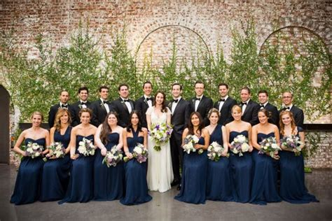 Bridesmaid Dresses Island New York - chic wedding at the foundry