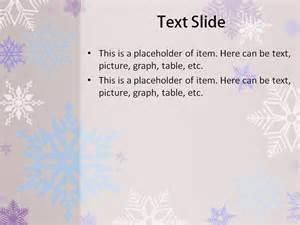 Free snowflake powerpoint template via