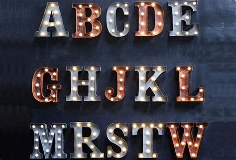 individual letters marquee lights antique farmhouse