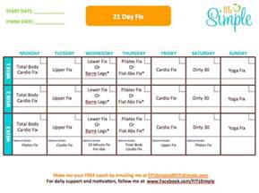21 day fix calendar weekly calendar template