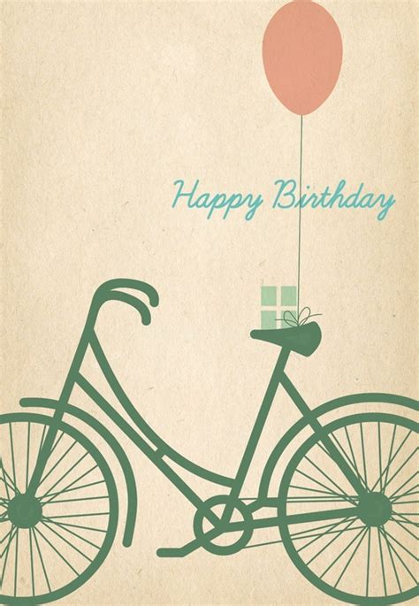 bicycle birthday card template 8 free birthday card printables