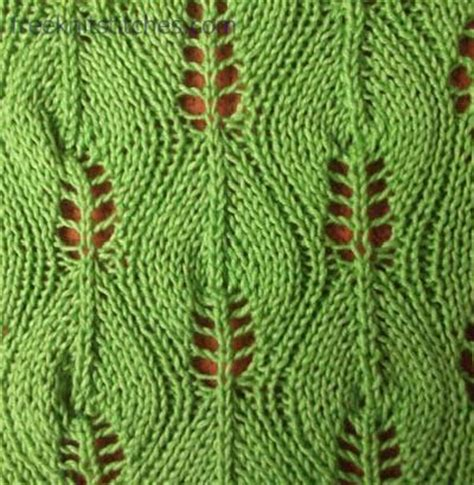 leaf pattern for knitting pattern central birch