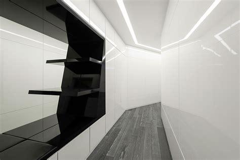 black  white geometry   futuristic moscow apartment
