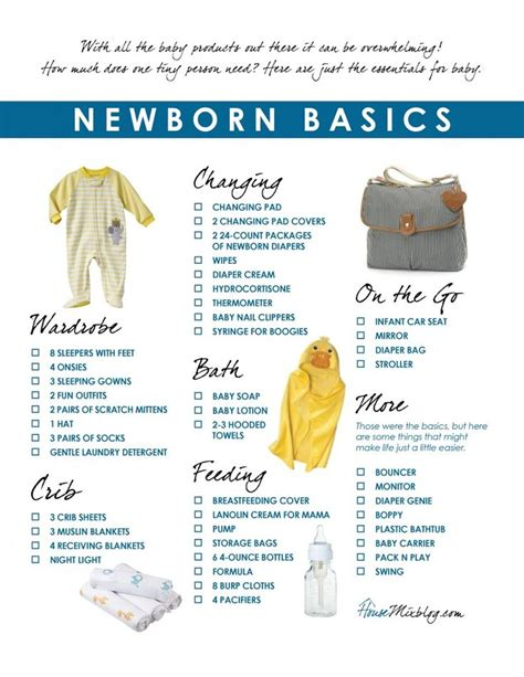 New Baby Supply Checklist 25 Best Ideas About Newborn Essentials List On