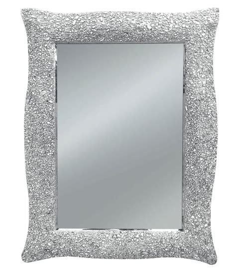 specchio cornice argento specchio con cornice ondulata argento effetto mosaico